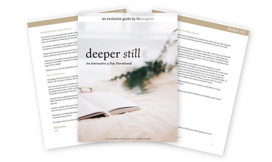 Free Deeper Still Devotional by LizMargaret